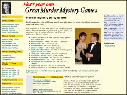 Great Murder Mystery Games